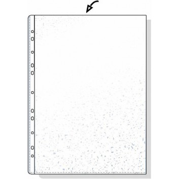 Prospekthülle Economic; für DIN A4; transparent, farblos; glasklar; oben offen; dokumentenecht mit Lochrandverstärkung; Polypropylen (PP); 0,05 mm