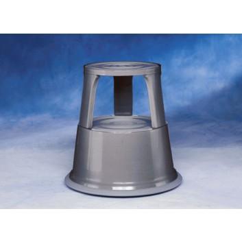WEDO Rollhocker Step Elefantenfuß; grau; Höhe: 44 cm; Metall; DU: oben 29 cm, unten 43,5 cm