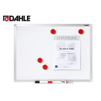 Dahle Whiteboard Basic; 90 x 120 cm; weiß; Metalltafel, weiß lackiert; abwischbar und magnethaftend; Alu-Profilrahmen mit Eckverbindern