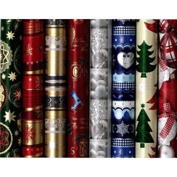 Weihnachts-Geschenkpapier; 70 cm x 2 m; egropa - sortierte Motive; Röllchen