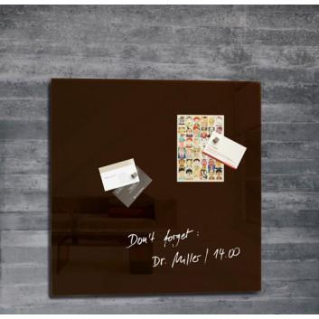 Sigel Glas-Magnetboard artverum®; 48 x 48 cm; mokka; inkl. Magnete; Tempered Glas, abwischbar; Tempered Glas, abwischbar
