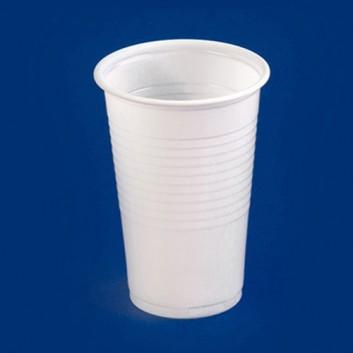 ABVERKAUF - Plastikbecher 0,2l; 200 ml; weiß; PP = Polypropylen, recycelbar; DU oben: 65 mm / Höhe: 95 mm