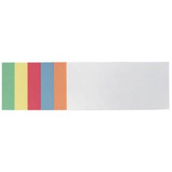 Franken Moderationskarten, selbstklebend; 6 Farben sortiert; 205 x 95 mm (Rechteck); 130 g/qm