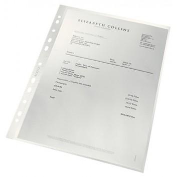 LEITZ Prospekthülle recycling - NEU Einführung; für DIN A4; farblos; genarbt; oben offen; dokumentenecht; aus 80 % recyceltem Material; 0,10 mm