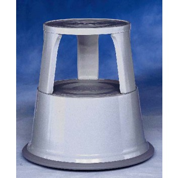 WEDO Rollhocker Step Elefantenfuß; lichtgrau; Höhe: 44 cm; Metall; DU: oben 29 cm, unten 43,5 cm