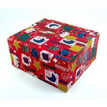 Weihnachts-Faltkarton; 354 x 314 x 162 mm; Emotion; rot