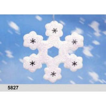 Schneeflocke, z. Hängen; 20 x 20 x 5 cm; beglimmert